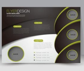 Green and black style commercial advertising template vector