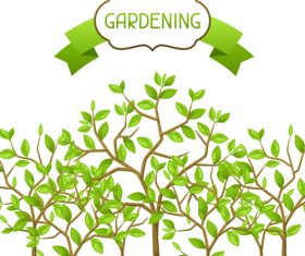 Green gardening illustration vector
