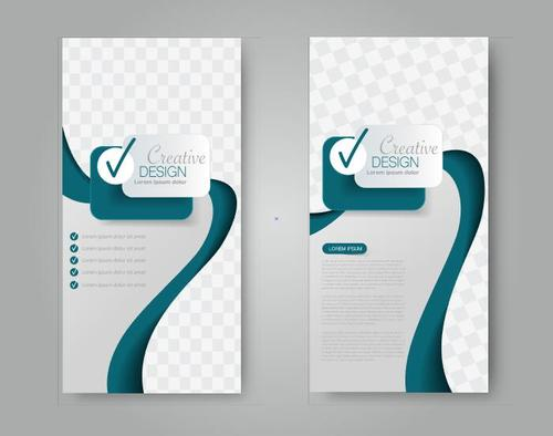 Grid graphic business advertising template vector