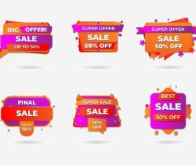 Half price discount sticker vector