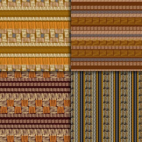 Hand made seamless patterns vector