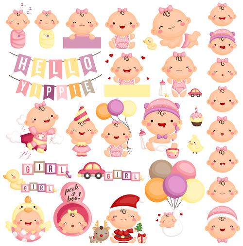 Happy baby vector