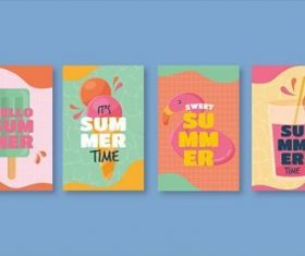 Happy summer banner vector