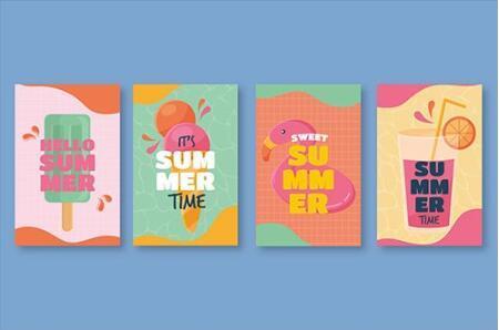 Happy summer banner vector