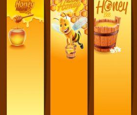 Honey background banner vector