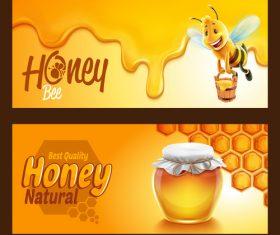 Honey frame vector