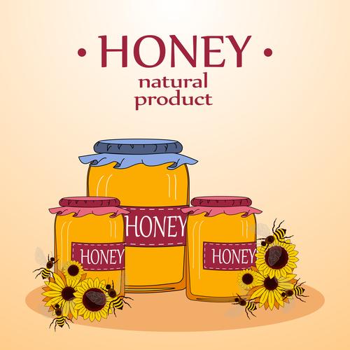 Honey product vector