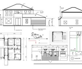 House planning vector set