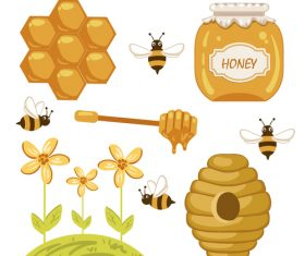 How to get honey illustration background vector