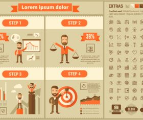 Income and expenditure plan infographic elements vector