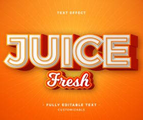 Juice fneoh 3d font editable text style effect vector