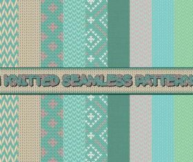 Knitted seamless patterns vector