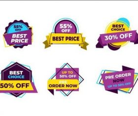 Label discount sticker vector
