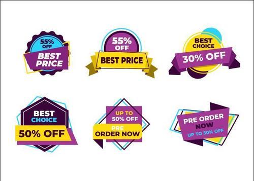 Label discount sticker vector
