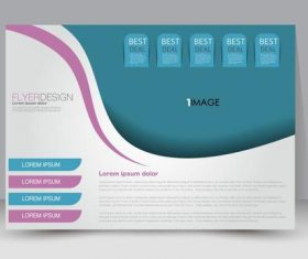 Label style business advertising template vector