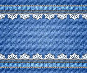 Lace denim texture vector