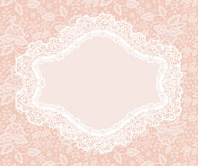 Lace frame vector card