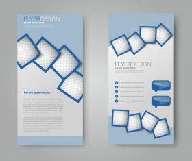 Lattice frame business advertising template vector
