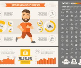 Lifestyle infographic elements vector