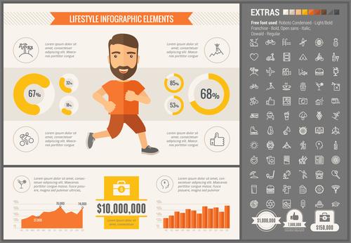 Lifestyle infographic elements vector