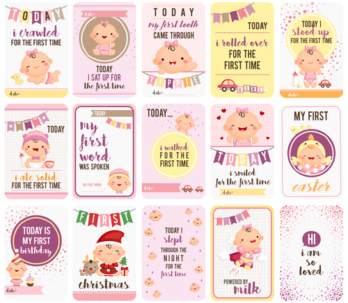 Little Kids And baby backgrounds in vector