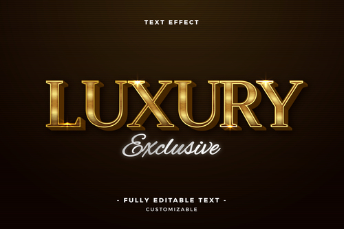 Luxury 3d font editable text style effect vector