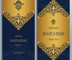 Luxury invitation card vector