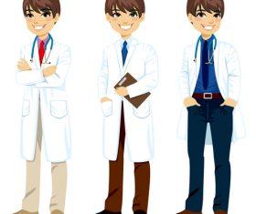 Male doctor cartoon character vector