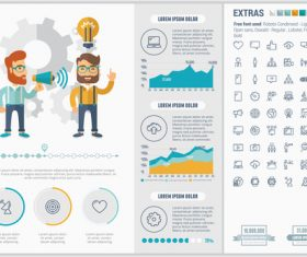 Marketing infographic elements vector