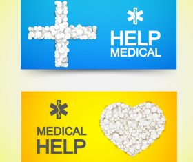 Medical care poster with inscription vector
