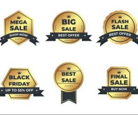 Mega sale shop now label vector