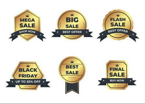 Mega sale shop now label vector