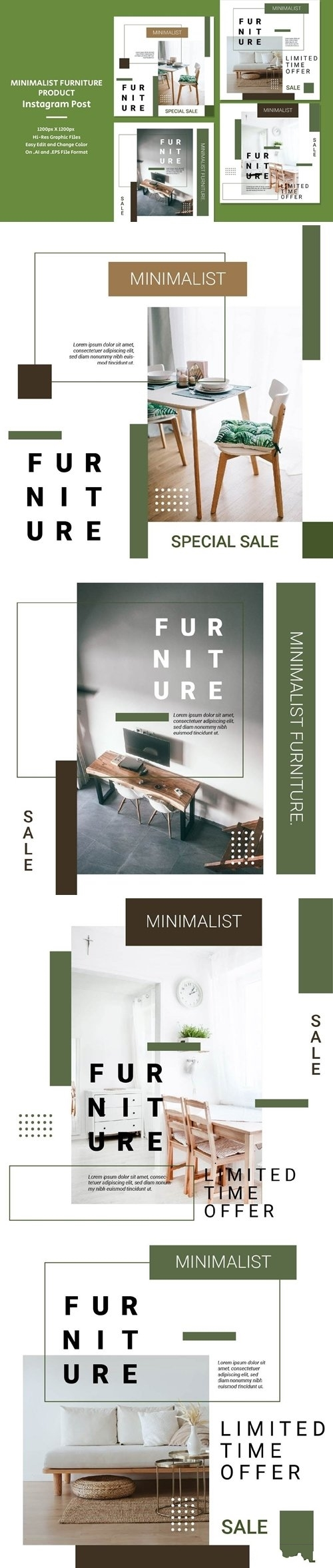 Minimalist Furniture Product vector