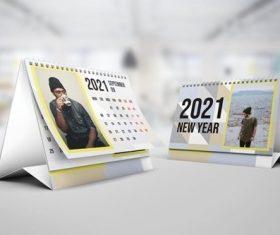 Model Calendar 2021 vector