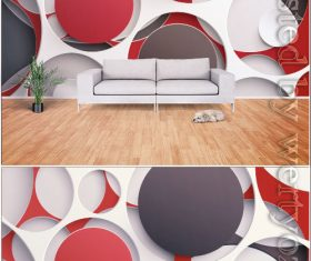 Modern stylish minimalistic 3d geometric graphic tv background wall vector