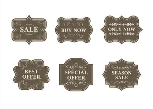 Multilateral graphic sale label vector