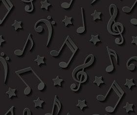 Music symbol black background vector
