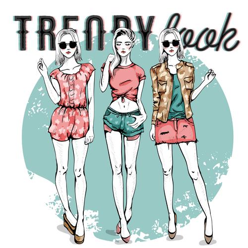 My fashion style illustration vector