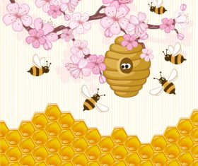 Nectar collection illustration background vector