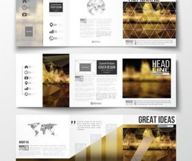 Night background business brochure template vector