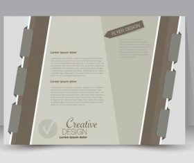 Notebook style business advertising template vector