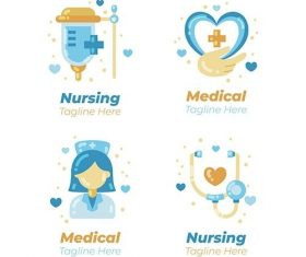 Nurse logo template vector
