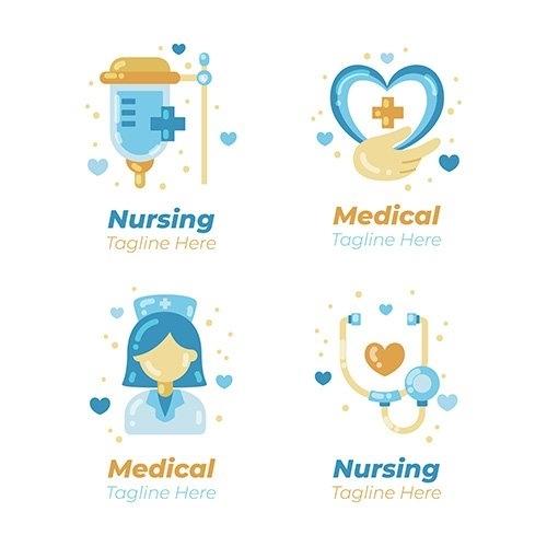 Nurse logo template vector
