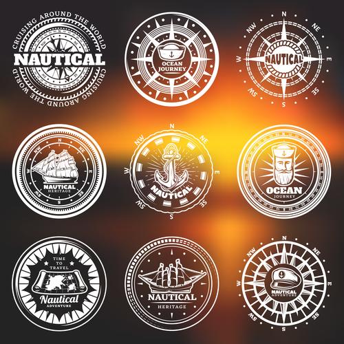 Ocean journey label vector