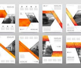 Orange business flyer vector