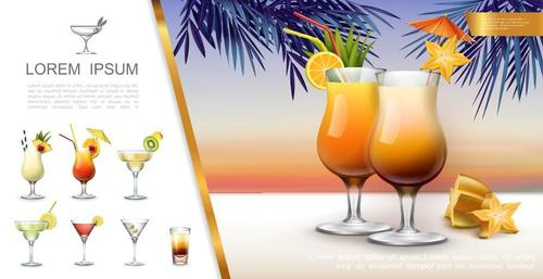 Orange juice flyer vector