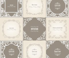 Ordinary frame background vector