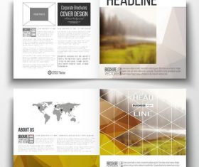 Outdoor landscape background business brochure template vector