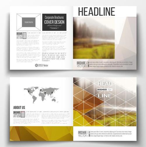 Outdoor landscape background business brochure template vector