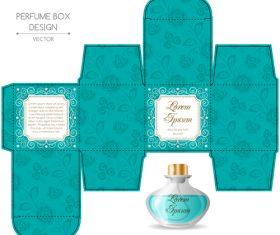 Packaging for perfumery in vector